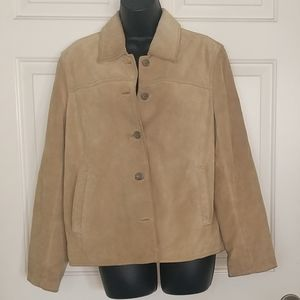 J. Crew Tan Leather Jacket